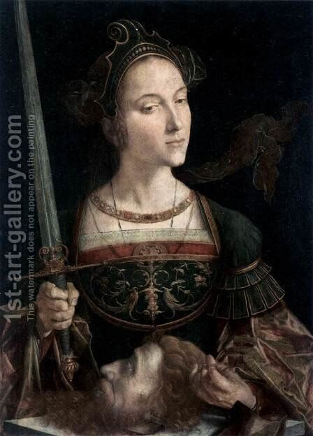 Judith with the Head of Holofernes by Jan Cornelisz Vermeyen - Reproduction Oil Painting
