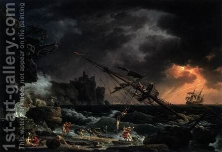 The Shipwreck by Claude-joseph Vernet - Reproduction Oil Painting