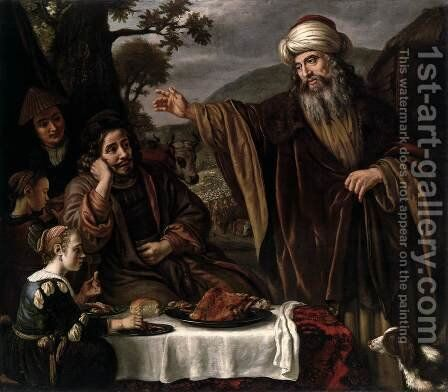 Abraham's Parting from the Family of Lot by Jan Victors - Reproduction Oil Painting
