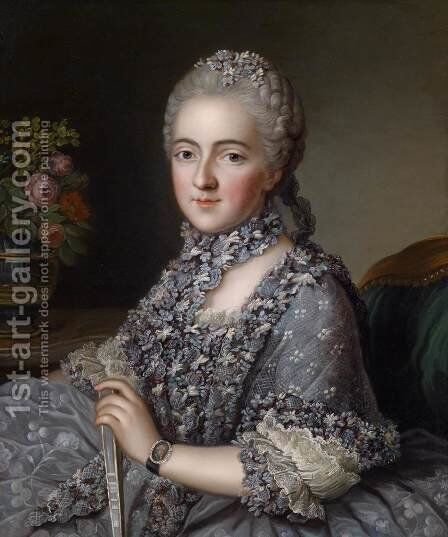 Portrait of a Lady by Guillaume  Voiriot - Reproduction Oil Painting