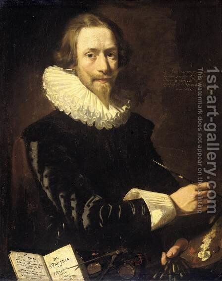 Self-Portrait by Abraham de Vries - Reproduction Oil Painting