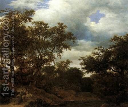 Oak Wood with Stagnant Water by Cornelis Hendricksz. The Younger Vroom - Reproduction Oil Painting