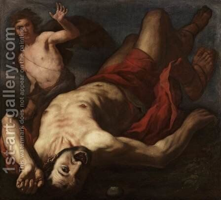 David and Goliath by Antonio Zanchi - Reproduction Oil Painting