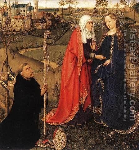 Visitation 1434-35 by Jacques Daret - Reproduction Oil Painting