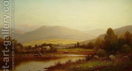 Starrucca Viaduct by Charles Wilson Knapp - Reproduction Oil Painting