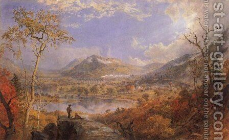 Starrucca Viaduct, 1865 by Jasper Francis Cropsey - Reproduction Oil Painting