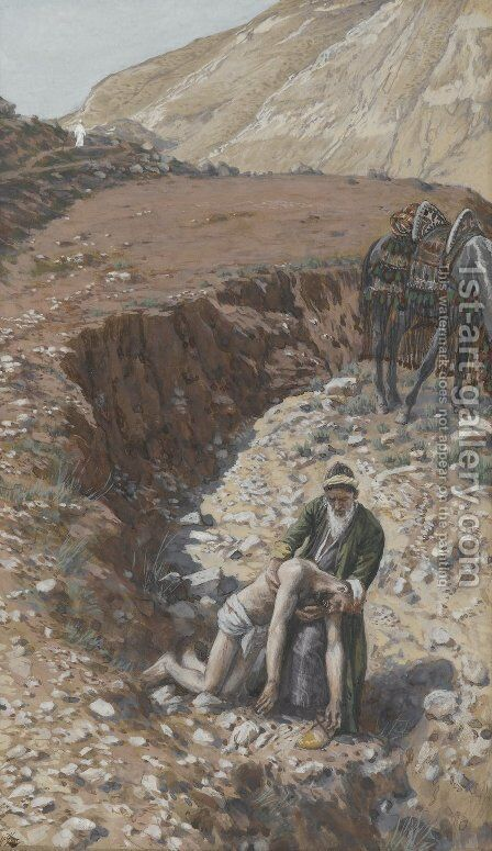 The Good Samaritan by James Jacques Joseph Tissot - Reproduction Oil Painting