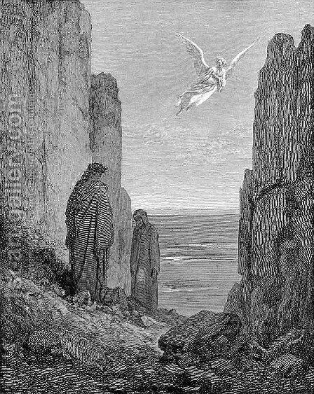 Ascent to the Fifth Circle by Gustave Dore - Reproduction Oil Painting