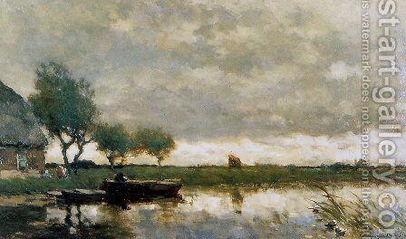Windy day by Jan Hendrik Weissenbruch - Reproduction Oil Painting