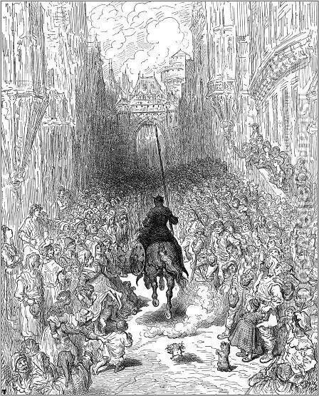 Orlando Furioso by Gustave Dore - Reproduction Oil Painting