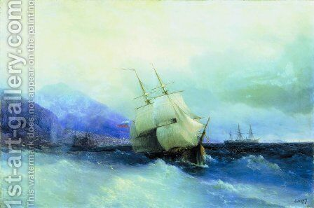 Trebizond from the Sea by Ivan Konstantinovich Aivazovsky - Reproduction Oil Painting
