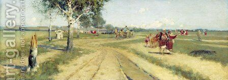 Coming Back from Fair by Andrei Petrovich Ryabushkin - Reproduction Oil Painting
