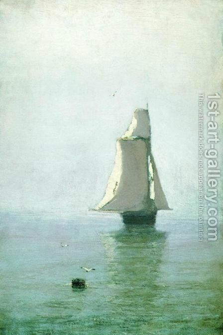 The Sea with a Sailing Ship by Arkhip Ivanovich Kuindzhi - Reproduction Oil Painting