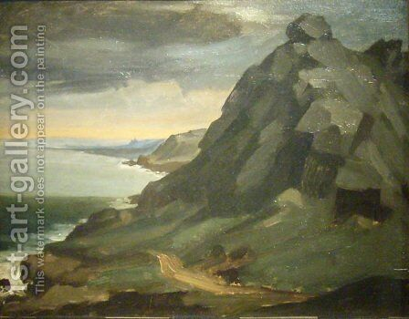 The rock of Castel Vendon by Jean-Francois Millet - Reproduction Oil Painting