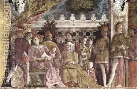 The court of the Gonzaga by Andrea Mantegna - Reproduction Oil Painting