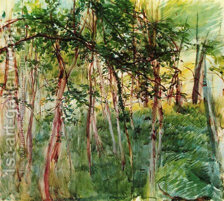 Trees in the Bois de Boulogne by Giovanni Boldini - Reproduction Oil Painting
