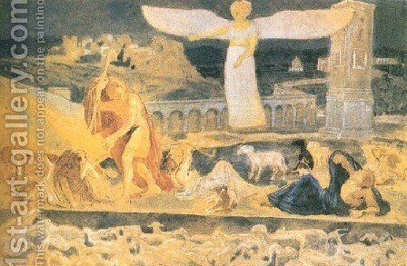 Adoration of the shepherds by Alexander Ivanov - Reproduction Oil Painting
