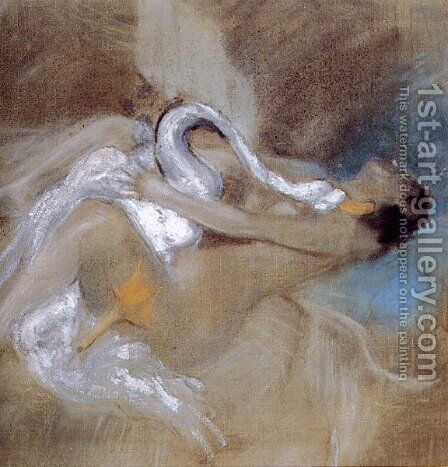 Leda with Swan by Giovanni Boldini - Reproduction Oil Painting