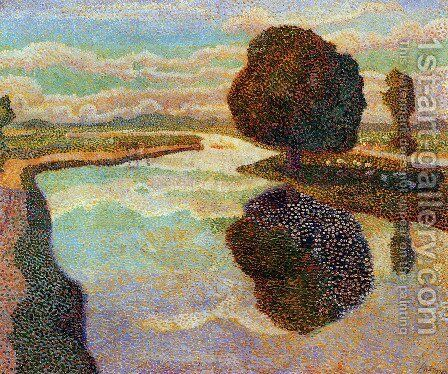 Landscape with canal by Jan Toorop - Reproduction Oil Painting