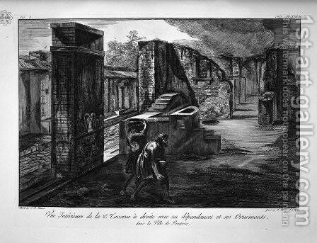 Split and elevations of the Tavern of the Priapus by Giovanni Battista Piranesi - Reproduction Oil Painting