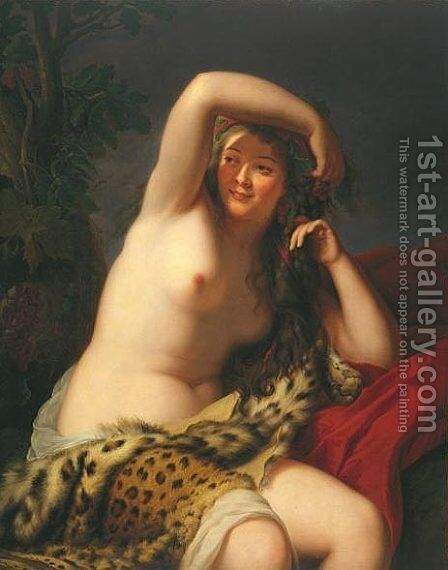 Bacchante by Elisabeth Vigee-Lebrun - Reproduction Oil Painting