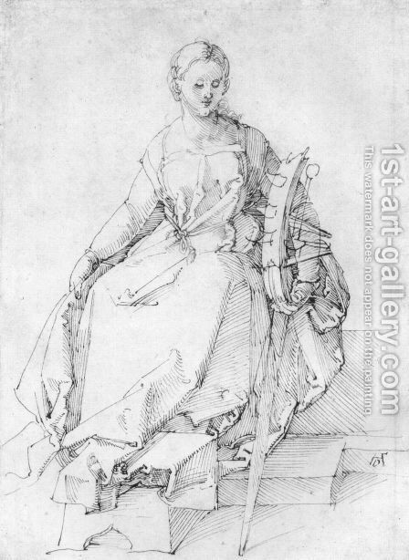 St. Catherine by Albrecht Durer - Reproduction Oil Painting