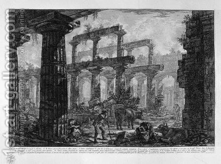 Remains of a Temple by Giovanni Battista Piranesi - Reproduction Oil Painting