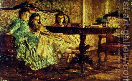 The Sisters Laskaraki by Giovanni Boldini - Reproduction Oil Painting