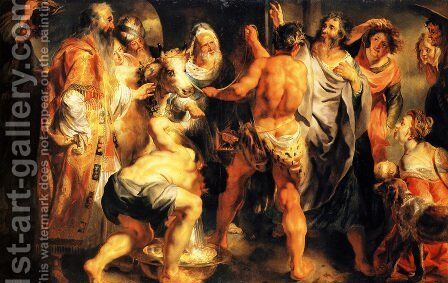 The Apostles, St. Paul and St. Barnabas at Lystra by Jacob Jordaens - Reproduction Oil Painting