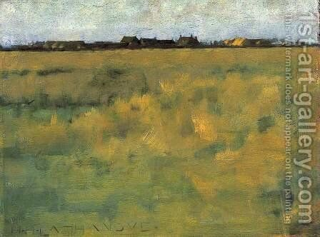 Farm Near Horsey, Norfolk by Henry Herbert La Thangue - Reproduction Oil Painting