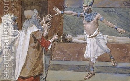Pharaoh and His Dead Son by James Jacques Joseph Tissot - Reproduction Oil Painting