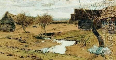 Spring has come by Isaak Ilyich Levitan - Reproduction Oil Painting