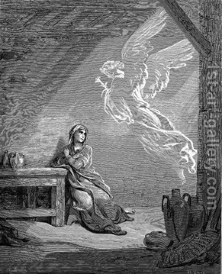 The Annunciation by Gustave Dore - Reproduction Oil Painting