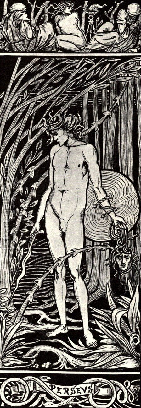Perseus by Aubrey Vincent Beardsley - Reproduction Oil Painting
