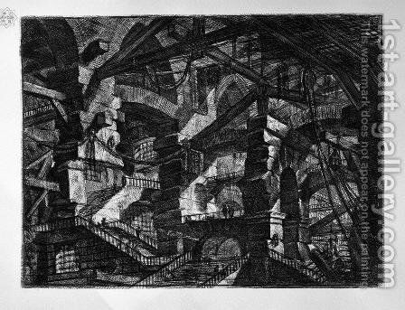 The Gothic Arch by Giovanni Battista Piranesi - Reproduction Oil Painting