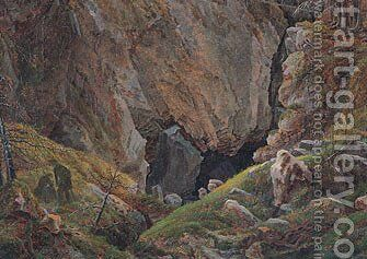 Canyon in the resin by Caspar David Friedrich - Reproduction Oil Painting