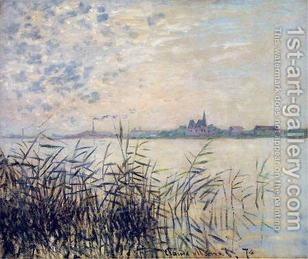 The Seine near Argenteuil by Claude Oscar Monet - Reproduction Oil Painting