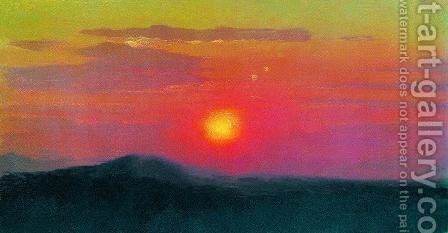 Red sunset by Arkhip Ivanovich Kuindzhi - Reproduction Oil Painting