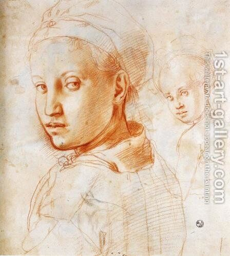 Study of a Boy Turning His Head by (Jacopo Carucci) Pontormo - Reproduction Oil Painting
