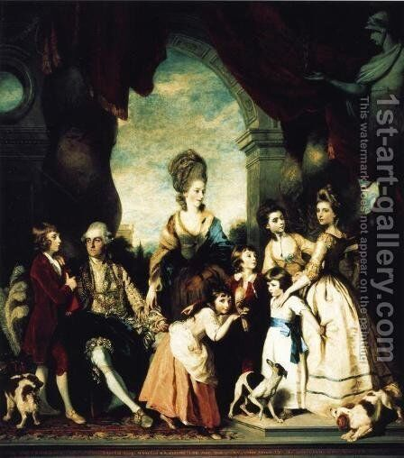 The Marlborough Family by Sir Joshua Reynolds - Reproduction Oil Painting