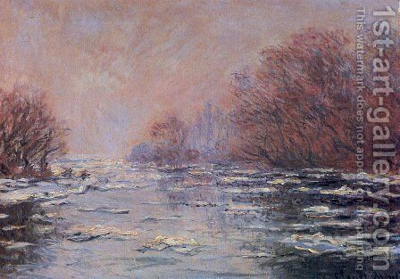 River Thawing near Vetheuil by Claude Oscar Monet - Reproduction Oil Painting