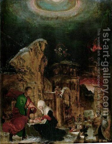 Nativity 2 by Albrecht Altdorfer - Reproduction Oil Painting