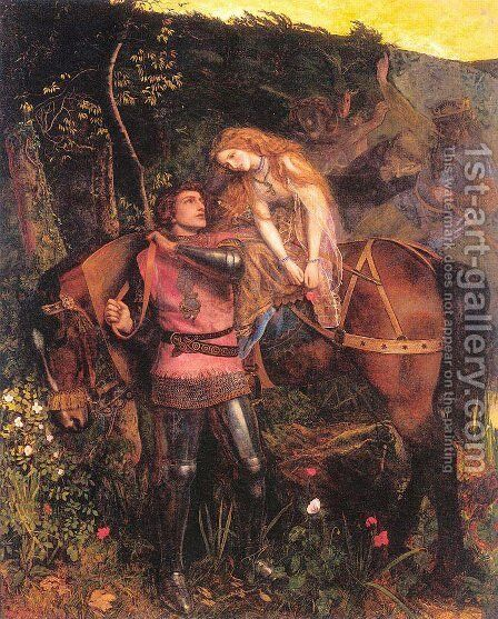 The Beautiful Lady Without Pity by Arthur Hughes - Reproduction Oil Painting