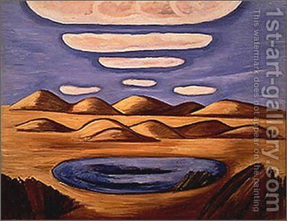 Large Country-Petrified Sand Hills by Marsden Hartley - Reproduction Oil Painting