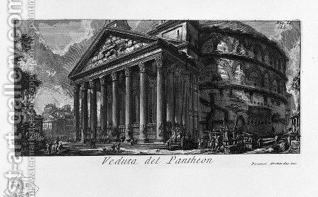 The Roman antiquities, t. 1, Plate XIV. Pantheon. by Giovanni Battista Piranesi - Reproduction Oil Painting