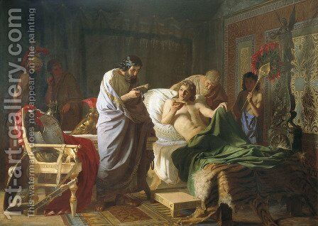 Alexander of Macedon Trust's the Doctor Philip by Henryk Hector Siemiradzki - Reproduction Oil Painting