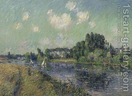 Sails on the Oise by Gustave Loiseau - Reproduction Oil Painting