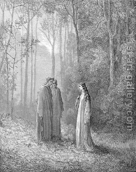 Pia by Gustave Dore - Reproduction Oil Painting