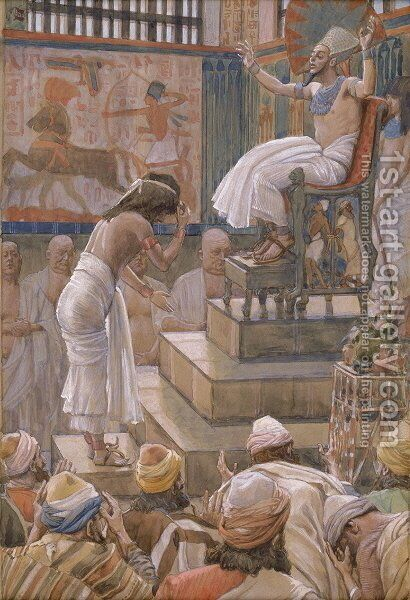 Joseph and His Brethren Welcomed by Pharaoh by James Jacques Joseph Tissot - Reproduction Oil Painting