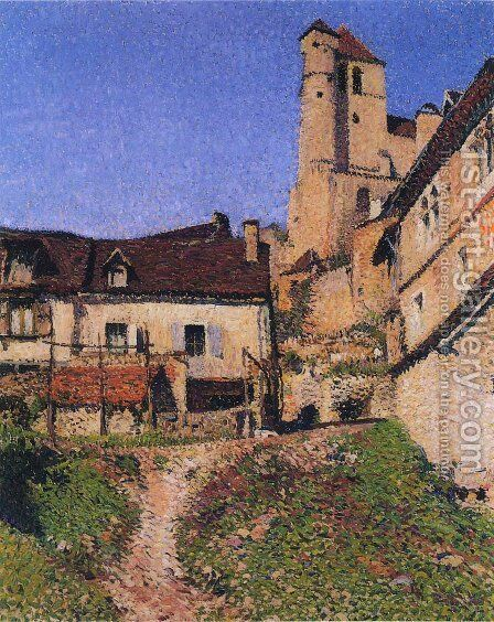 Village Corner by Henri Martin - Reproduction Oil Painting